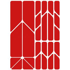 Riesel Design re:flex plus Reflective Stickers, czerwony